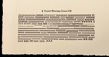 "New Letterpress Type - 12 point Jenson ""Golden"""