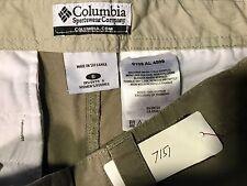 "Columbia women's casual shorts size 6 waist 30"" rise 9.5"" hips 38"" inseam 8.5"" z"