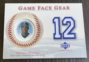 2003 Upper Deck Game Face Gear ALFONSO SORIANO GAME JERSEY #GG-AS Yankees