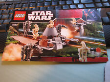 Legos  #7654 Star Wars   Droids Battle Pack    Manual Only