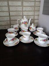 Vintage Regent China English Rose Design Tea Cup Set
