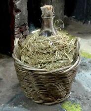 Damigiana vetro tappo sughero impagliata  presepe San Gregorio Armeno