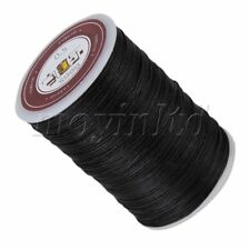 Black Wax Polyester Twisted Cord Leather Sewing String Round Thread Line 0.5mm