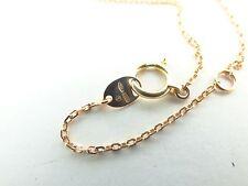 Designer Damiani 18k rose gold 17 inch necklace.