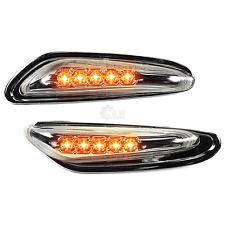 LED Seitenblinker Set Satz für BMW E46 E60 E61 X3 E83 in chrom klar