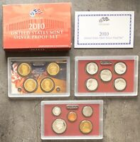 USA 2010 SILBER Proof Set San Francisco PP ATB Quarter President. Dol. 1c-$1