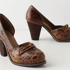 """New listing 6.5 7 Anthropologie Schuler & Sons Croc Leather """"Linnaean Platform Pump"""" Shoes"""