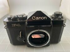 Vintage Canon F-1 35mm Slr Film Camera Body Works As-Is No Base Plate