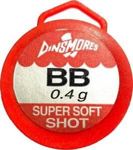 Dinsmores Super Soft Shot Refill Tubs *All Sizes* Non Toxic Split Shot NEW