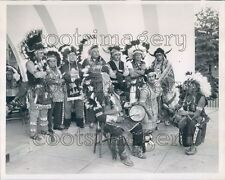 1962 Indian Chiefs Native Dress Watch Princess Maise Blossom Dance Press Photo