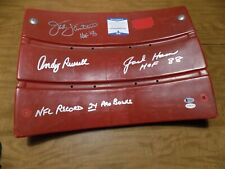 SEAT BACK SIGNED BY STEELER LINEBACKERS ANDY RUSSELL, JACK HAM, JACK LAMBERT