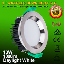6X 13W LED DOWNLIGHT KIT Satin Chrome 90MM CUTOUT DIMMABLE 5000K DAYLIGHT WHITE