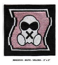 "RAINBOW SIX - MUTE PATCH - 2"" VEL-KRO - RBSIX53V"