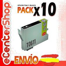 10 Cartuchos de Tinta Negra T0611 NON-OEM Epson Stylus DX3800