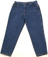Vintage Chic Mom Jeans Womens Plus Size 24W High Waist Tapered, Blue Denim, USA