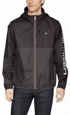 NWT$125 Mens Tommy Hilfiger Black Rain Jacket Windbreaker...