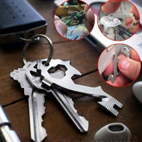 20 In 1 Multi-Tool EDC Gear Camping Pocket Carabiner Survival Keychain Opener