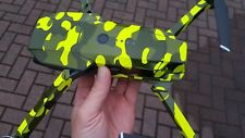 Fluorescent Yellow Camouflage DJI Mavic Wrap / Skin / Decal UK made