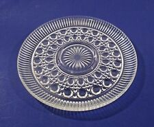 """Glass Indiana WINDSOR? Button Diamond Pattern 11"""" Clear Serving Plate Dish"""