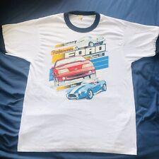 Vintage 1988 Ford Preformance Cars Ringer T-Shirt Mens Size Large