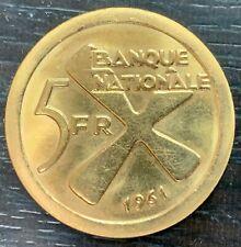 KATANGA - République démocratique du Congo - 1961 - 5 FRANCS OR