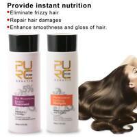 Pure Brazilian Keratin Hair Care Set Straightening Repair Treatment Hair Shampoo