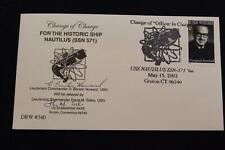 DRW NAVAL COVER #340 CHANGE OF COMMAND USS NAUTILUS AUTOGRAPHED 2003 HAND CANCEL