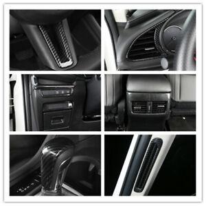 For Mazda3 BP 2019 2020 2021 Interior Carbon Black Accessories Kit Trims 9pcs