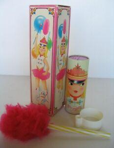 Vtg Avon Miss Lollypop Powderette Perfumed Talc FULL! 3.5 oz. + Powder Puff, Box