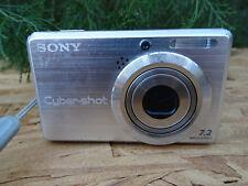 Sony Cyber-shot DSC-S750 7.2MP Digital Camera - Silver w/Battery 8G Pro Duo Card