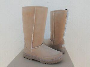 UGG SAND ULTRA TALL REVIVAL SUEDE/ SHEEPSKIN BOOTS, WOMEN US 11/ EUR 42 ~NIB