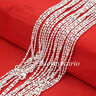 "Wholesale Lots 1.4mm Bar & Bead Link Chain 925 Sterling Silver Necklace 16""-30"""
