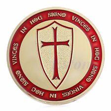 Chevalier Crusader Croix Souvenir plaqué or Token Commemorative Coins Collection