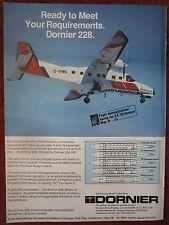 5/1982 PUB DORNIER 228-100 200 TURBOLINER HANOVER AIR SHOW FLUGZEUG ORIGINAL AD