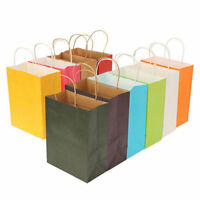 10 Colors Kraft party Paper Carrier Bag Wedding Treat with handle loot bags New