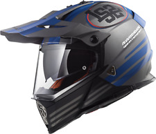 LS2 Mx436 Poineer Motocross ATV off Road BMX Track Helmet M Matt Titanium Blue