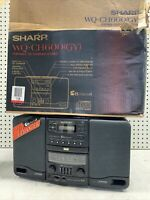 Vintage SHARP WQ CH600 Portable Boombox Radio Cassette 6 CD Changer Stereo MINT