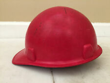 MSA Red Glass Fiber II Fiberglass Construction Hard Hat Skullgard 1969 ANSI Cert