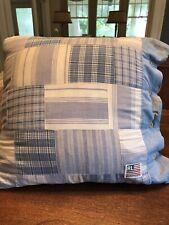 """Ralph Lauren Home Americana Patchwork Throw Pillow 20x20"""" ~EUC~🇺🇸🇺🇸🇺🇸"""
