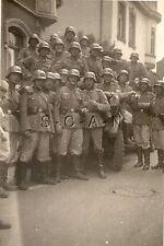 WWII German Army RP- Soldier- Helmet- Pistol Holster- Truck- KFZ- Group Photo