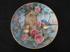 "Royal Doulton ""Settling In"" Fine Bone China 8"" Collector's Plate Gold Trim, Gc"