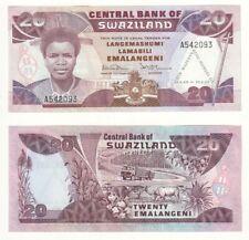 SWAZILAND 20 Emalangeni (Kings, 21st Commemorative overprint) P.17a - UNC.