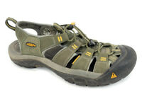 Keen Mens 9.5 Waterproof Outdoor Hiking Sandals Close Toe Toggle Closure Green