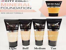 City Color Mineral Foundation - Paraben Free with Vitamin E, Non Greasy Formula