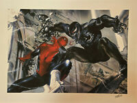 Marvel Fine Art-Encounter Gabriele Dell'Otto Signed By Stan Lee Giclee On Paper