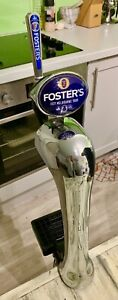Fosters chrome beer pump/ beer tap/ man cave / home bar beer tap/ fosters font