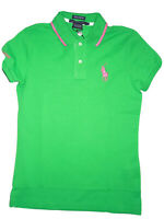Polo by Ralph Lauren  women's Bright Green short sleeve pony Golf Shirt sz Small