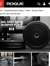 NEW Rogue Fitness MIL Spec Echo Bumper Plates - Select-a-Weight⚡️Fast Shipping⚡️