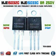 1 Pair Mje15032g Mje15033g Transistor Audio Pnp Npn On 8a 250v 50w To 220 Usa