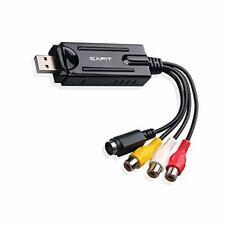 USB Video Capture Converter Analog To Digital VHS V8 S-Video PC Windows NTSC PAL